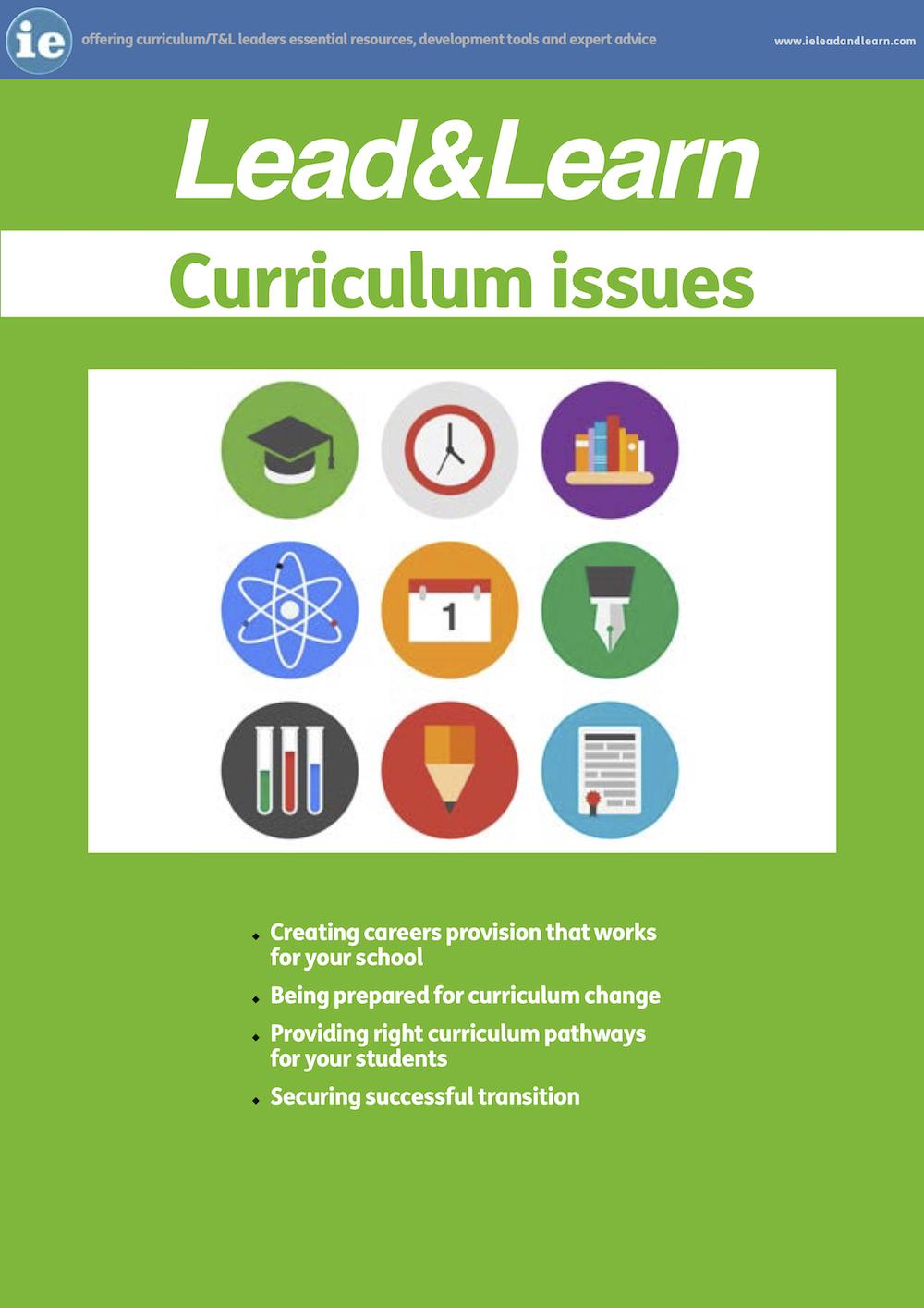 Curriculum Issues - Improve Curriculum Management